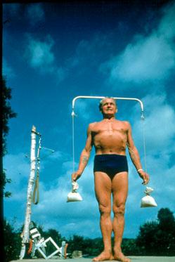 La postura erguida de Pilates